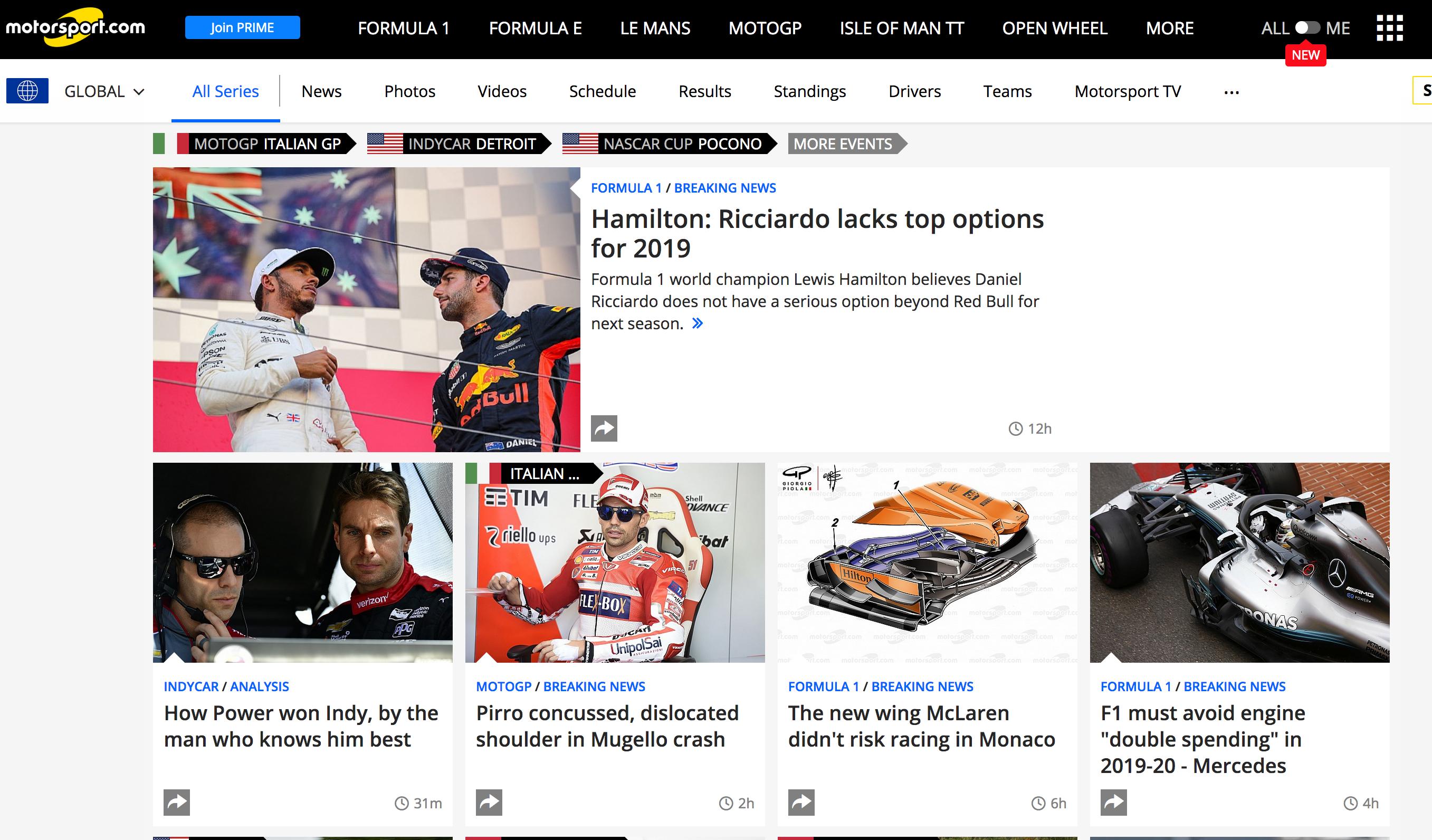 Motorsport.com screenshot